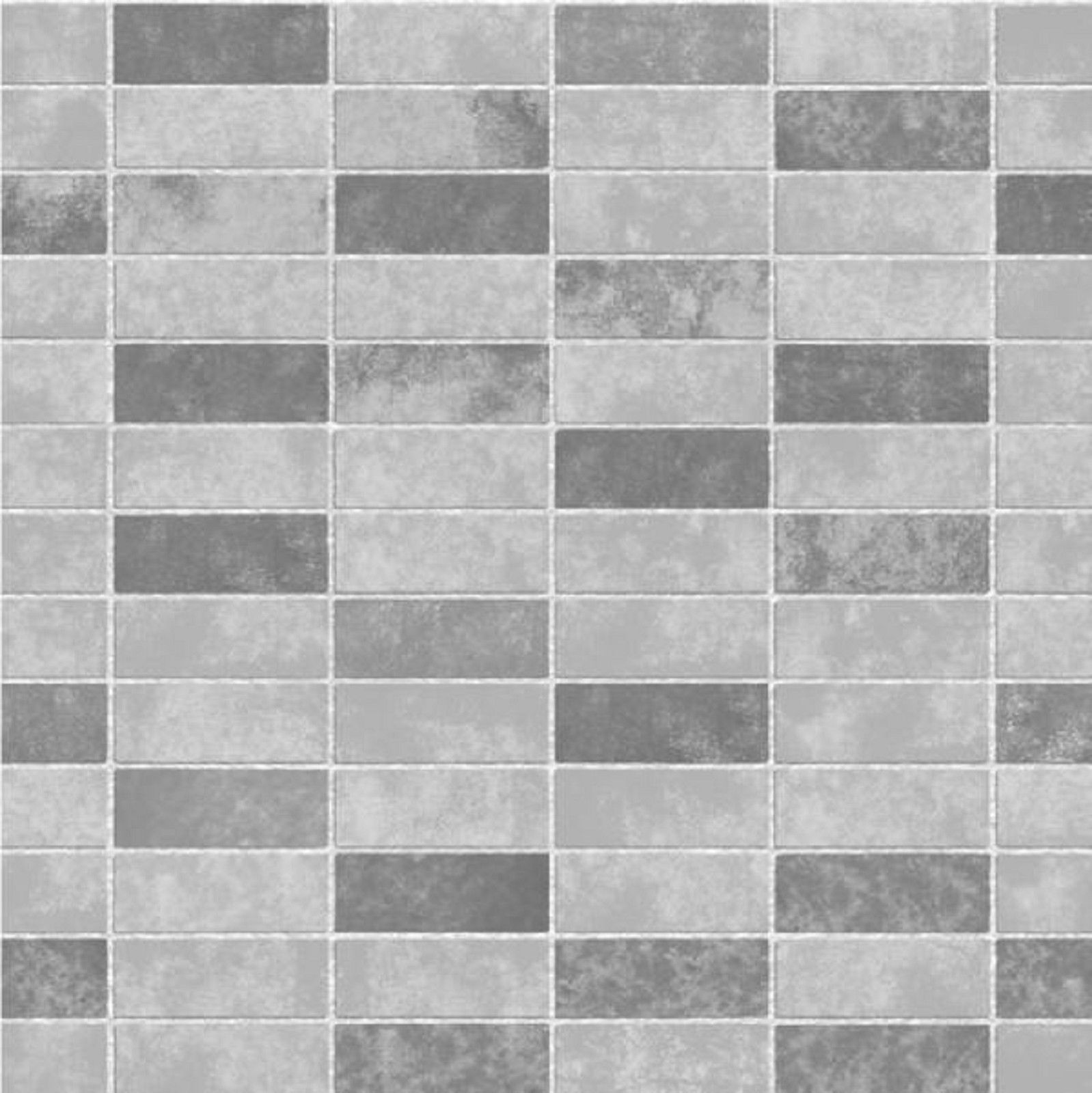 Fine decor ceramica grey kitchen bathroom wallpaper for Gray bathroom wallpaper