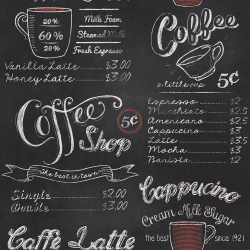 Rasch Coffee Shop Wallpaper 234602 Cut Price Wallpaper