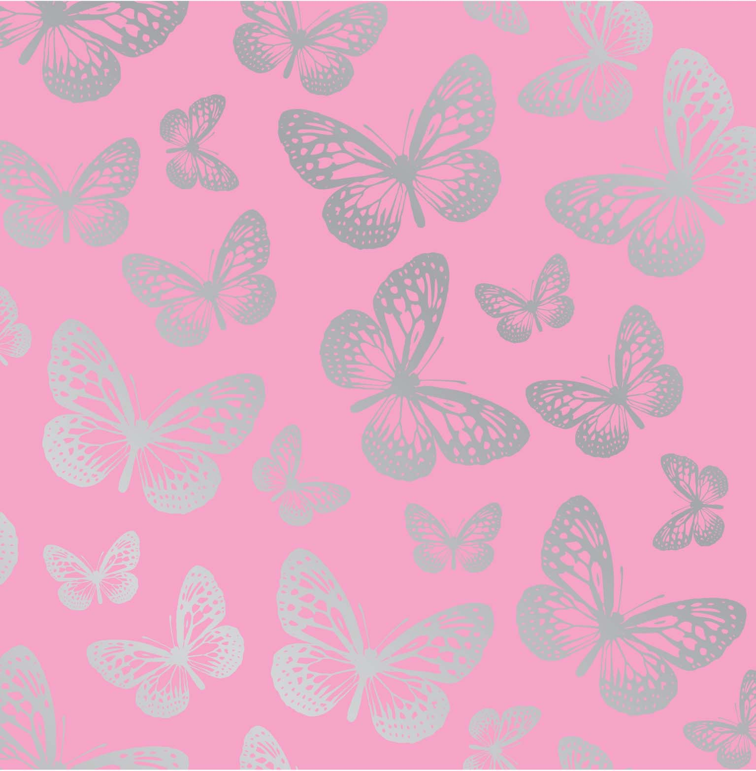 Pink Butterfly Wallpaper: Fine Decor Fun4Walls Butterfly Wallpaper