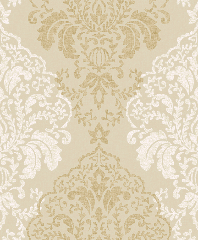 White and gold damask wallpaper for Damask wallpaper