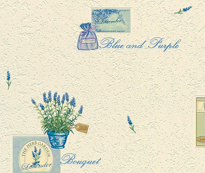 Rasch Herb Garden Vinyl Kitchen Wallpaper U2013 824407  Cream