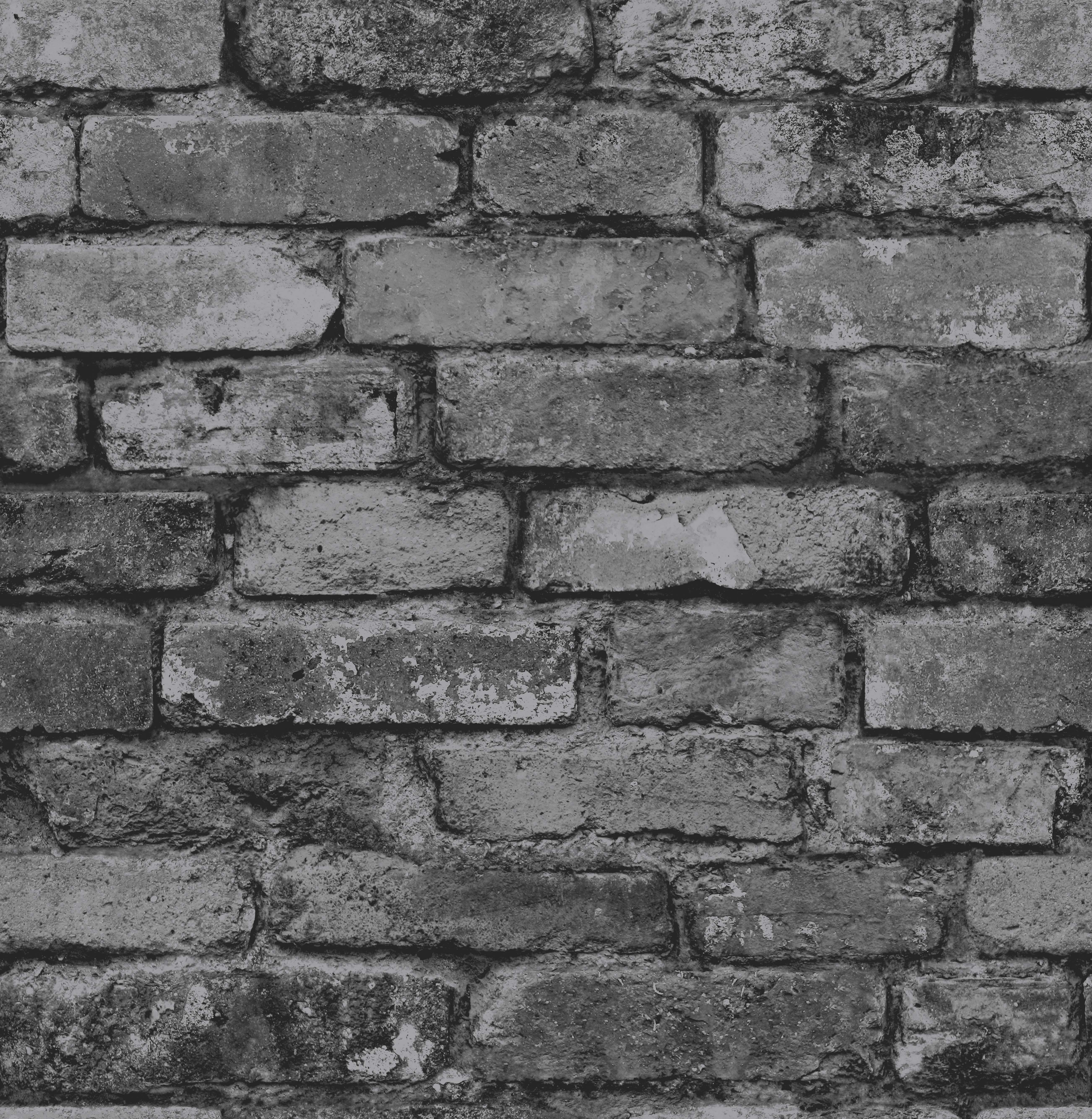 Fine decor distinctive rustic brick wallpaper fd31284 for Black wallpaper home decor