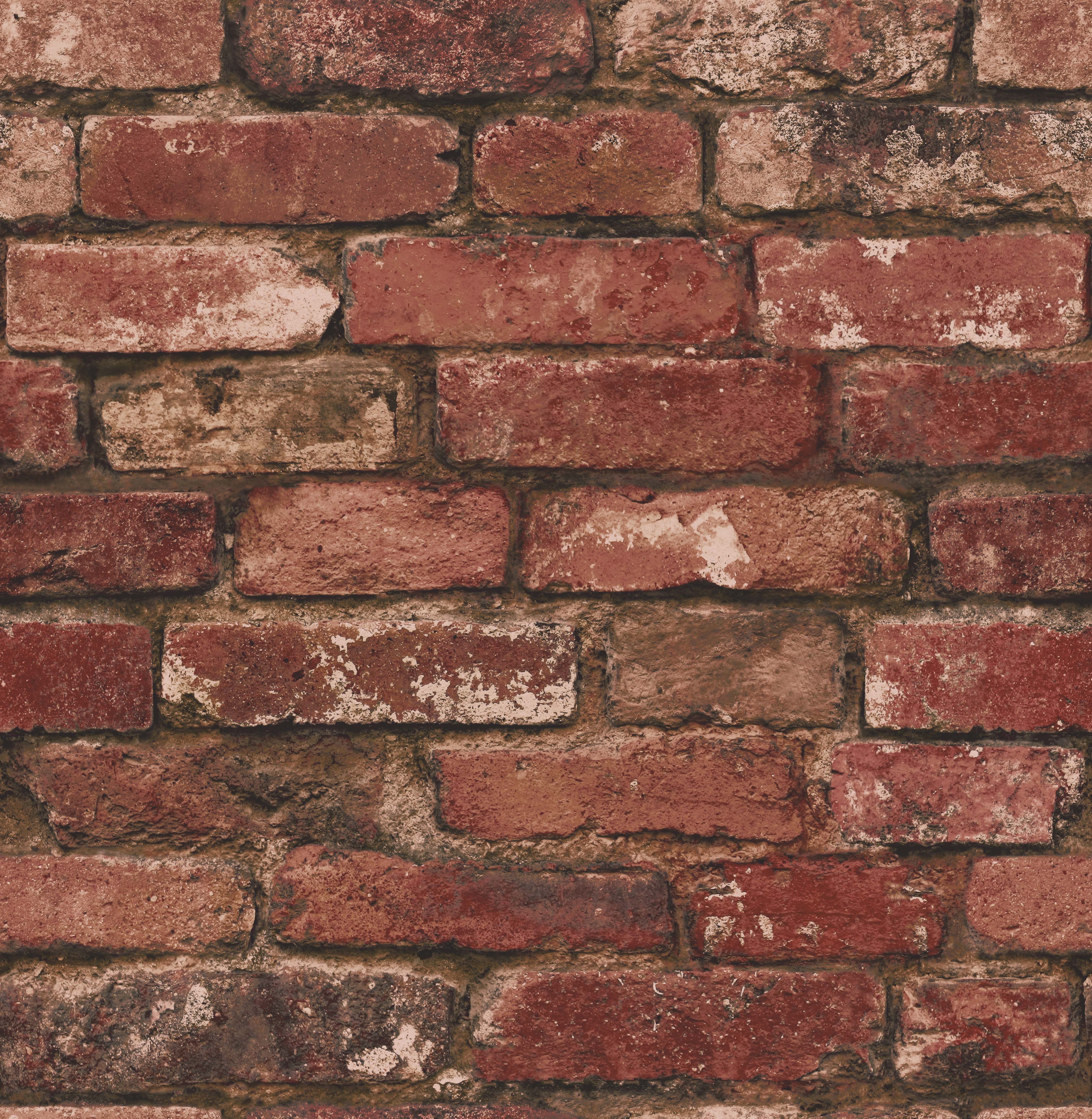 Rustic Brick Wall Decor : Fine decor distinctive rustic brick wallpaper fd