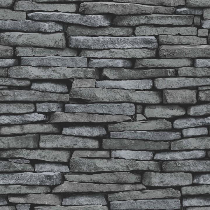 Best brick wallpaper styles archives cut price wallpaper for Black 3d brick wallpaper
