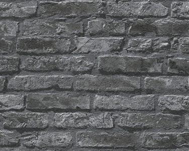 As Creation Brick Effect Wallpaper 95470 1 Black