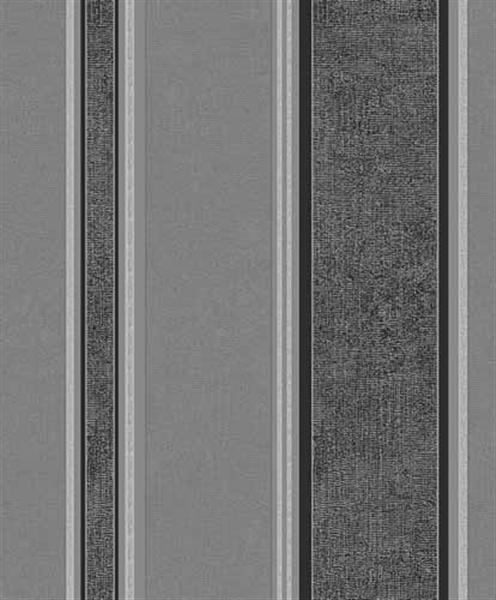 Coloroll Mallory Stripe Textured Wallpaper M0917 Midnight