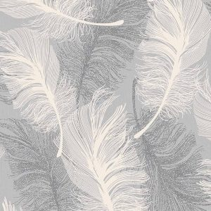 Coloroll Feather Textured Wallpaper M0923 Dappled Grey