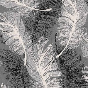 Coloroll Feather Textured Wallpaper M0925 Monochrome