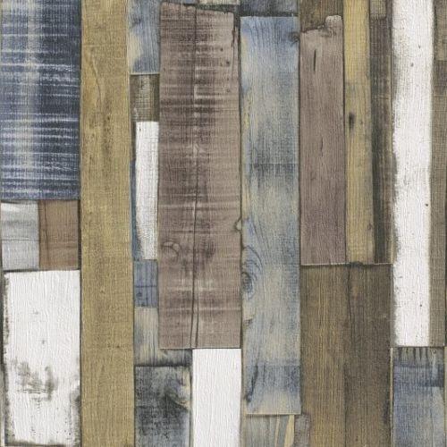 Rasch Authentic Wooden Plank Wallpaper 203707 Blue