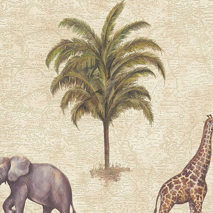 As Creation African Animals Wallpaper 95897 2 Cream Brown