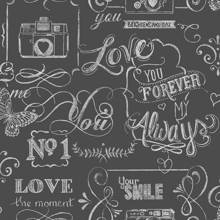 Graham Brown Fresco Life Rules Wallpaper 51 028 Blackwhite