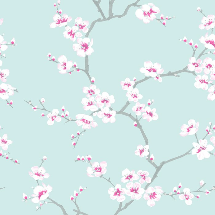 Graham Brown Fresco Apple Blossom Wallpaper 51 066 Teal
