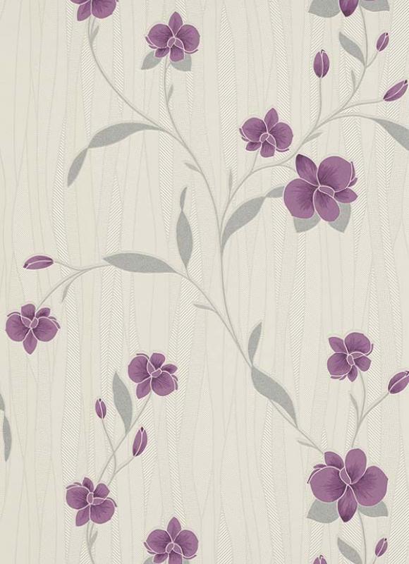 erismann orchid blown vinyl wallpaper 9745 09 purple. Black Bedroom Furniture Sets. Home Design Ideas
