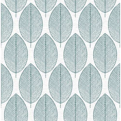 arthouse opera retro leaf teal green wallpaper 408207. Black Bedroom Furniture Sets. Home Design Ideas