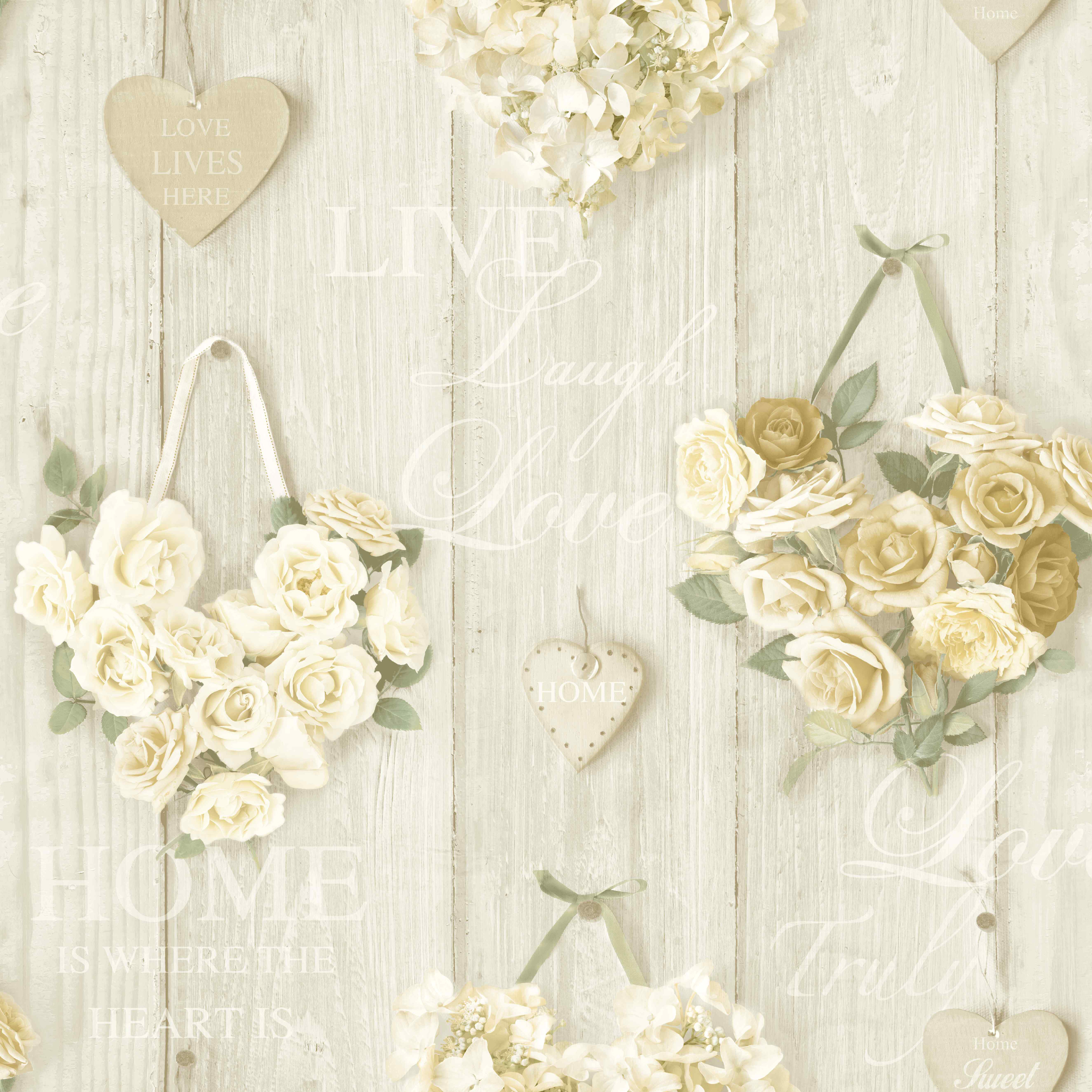 ideco home vintage hearts wallpaper a14501 cream cut price wallpaper crewe. Black Bedroom Furniture Sets. Home Design Ideas