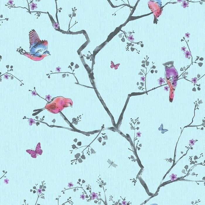 Graham Brown Fresco Mai Bird Wallpaper 100045 Soft