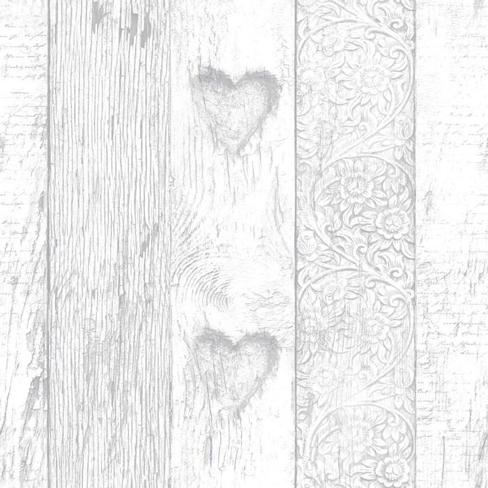 Graham & Brown Fresco Plank Love Heart Wallpaper - 100049 ...