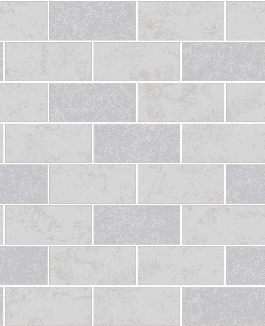 Fine Decor Ceramica Glitter Brick Wallpaper FD41461 Grey