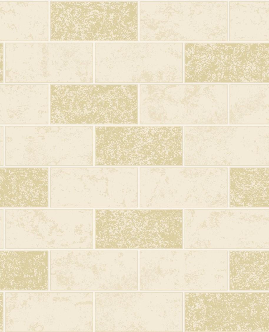 Fine Decor Ceramica Glitter Brick Wallpaper Fd41463