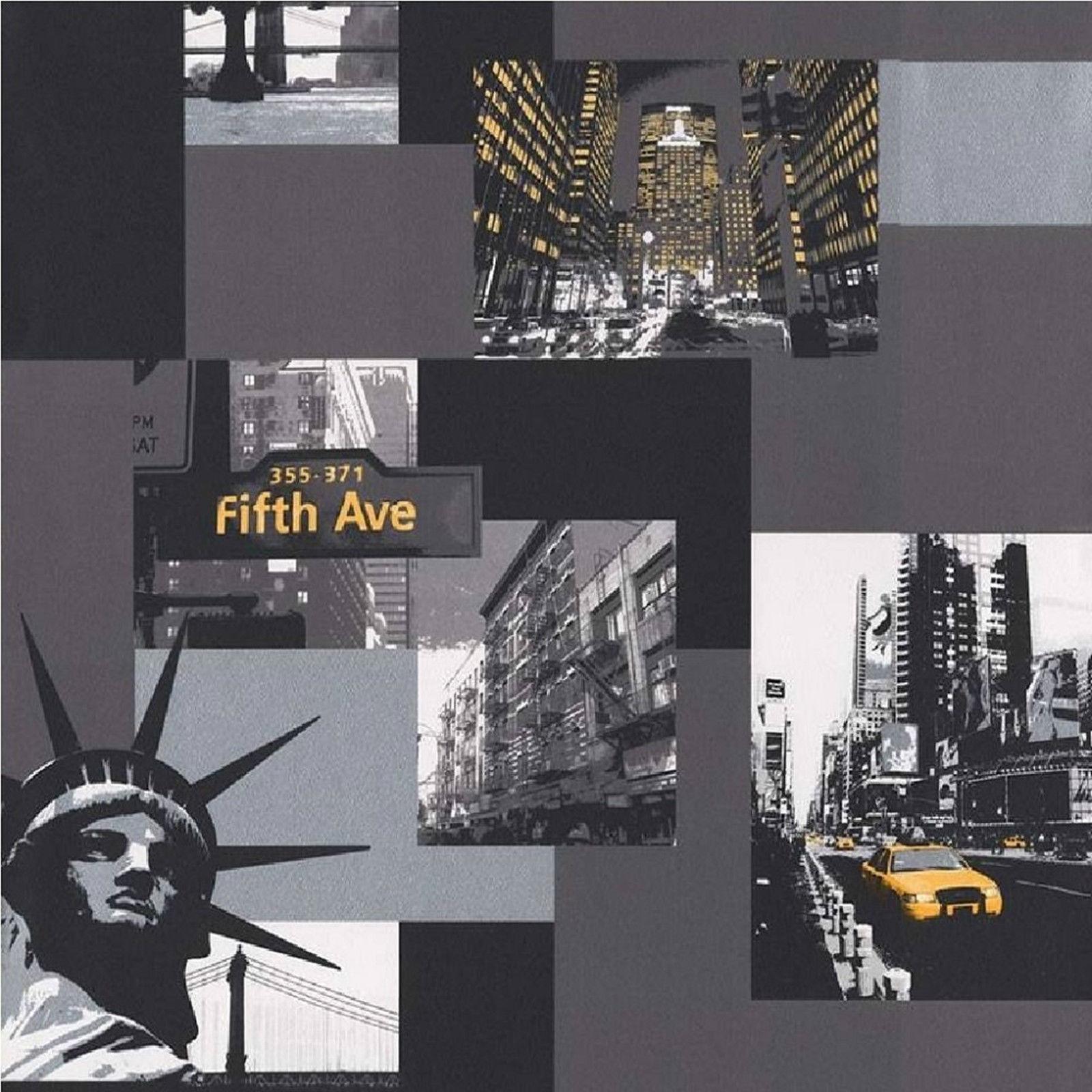 Debona New York Wallpaper Black White 10013