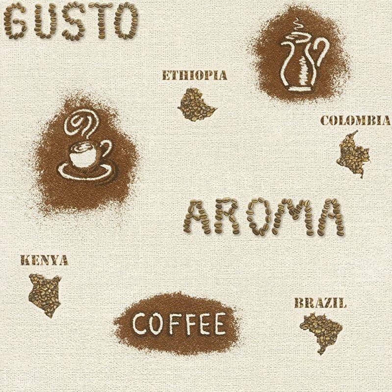 Kitchen Wallpaper Coffee: Rasch Aroma Coffee Kitchen Wallpaper