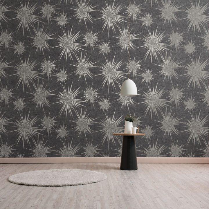 crown_quantum_star_geometric_pewter_glitter_wallpaper_m1139_room1