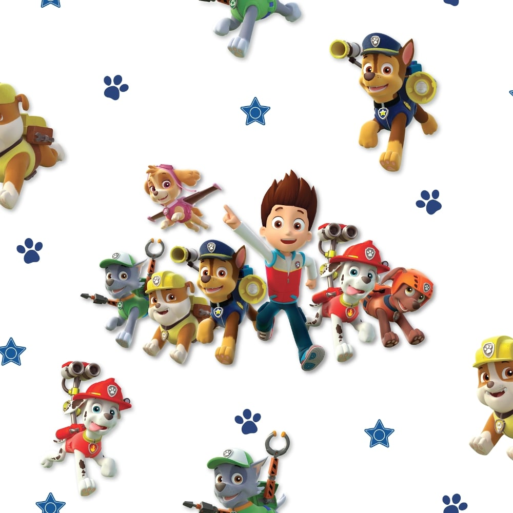 debona official paw patrol wallpaper multi cut price. Black Bedroom Furniture Sets. Home Design Ideas