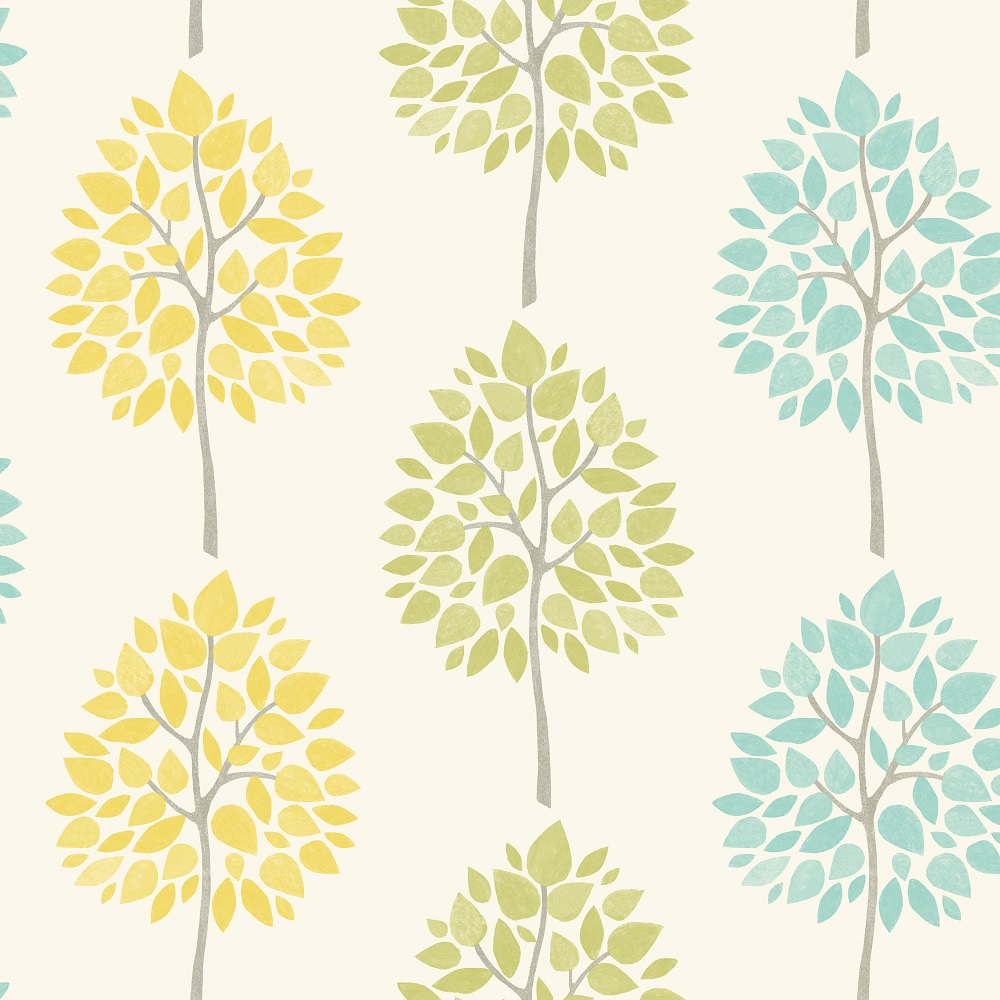 fine decor riva tree wallpaper fd41592 yellow lime