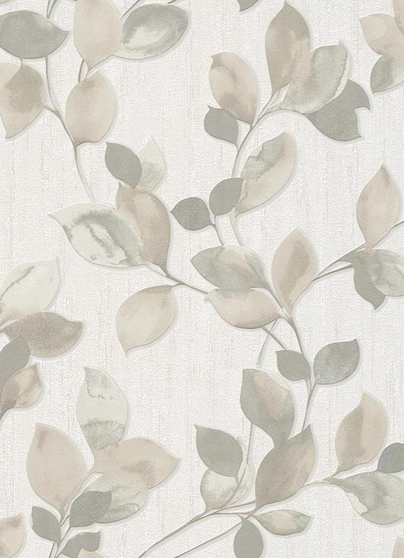 Erismann Central Park Leaf Paste The Wall Wallpaper 6972 11 Beige Taupe