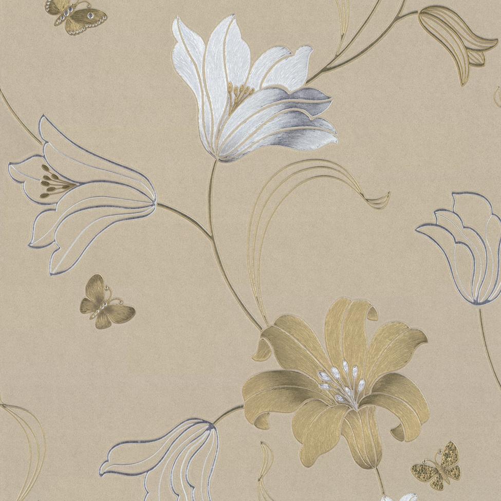 Muriva Couture Amelia Floral Vinyl Wallpaper 701413