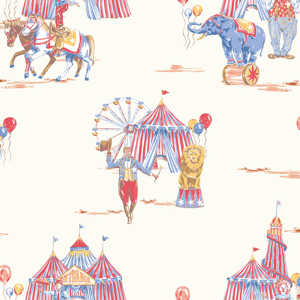 Arthouse Imagine Circus Fun Wallpaper 696001 Red Blue