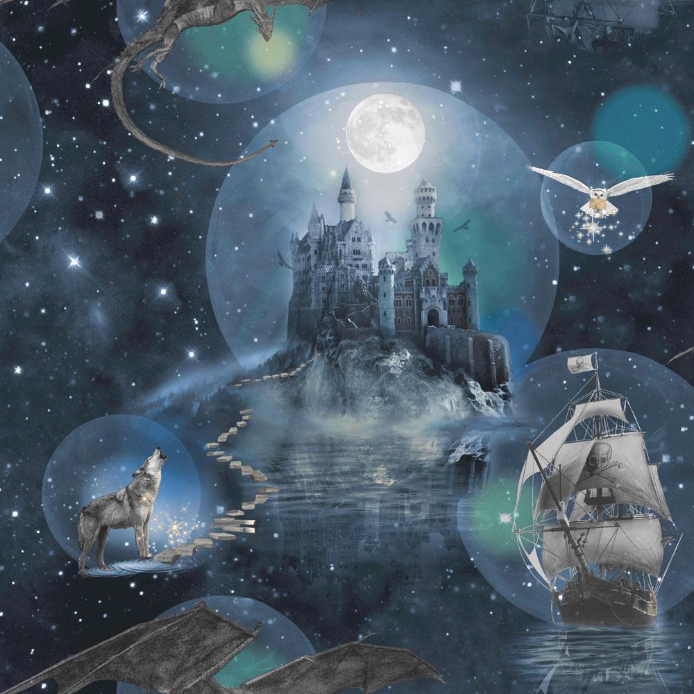 Arthouse Imagine Magical Kingdom Wallpaper 696100 Blue