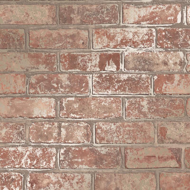 Fine Decor Loft Brick Wallpaper Fd41954 Red Brick Cut Price