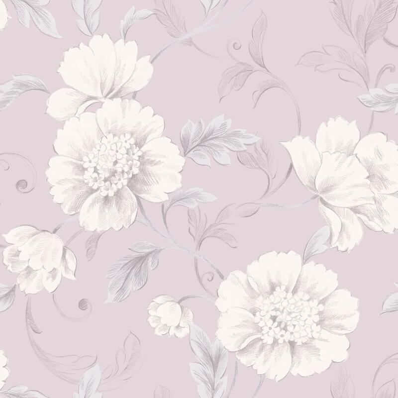 rasch boutique floral wallpaper 226171 mauve pink. Black Bedroom Furniture Sets. Home Design Ideas
