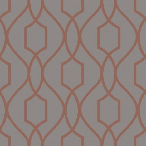 Fine Decor Apex Trellis Wallpaper Fd41998 Charcoal