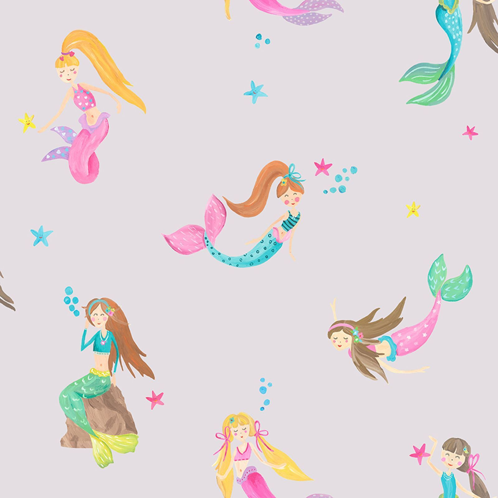 Arthouse Imagine Mermaid World Wallpaper 696102 Lilac