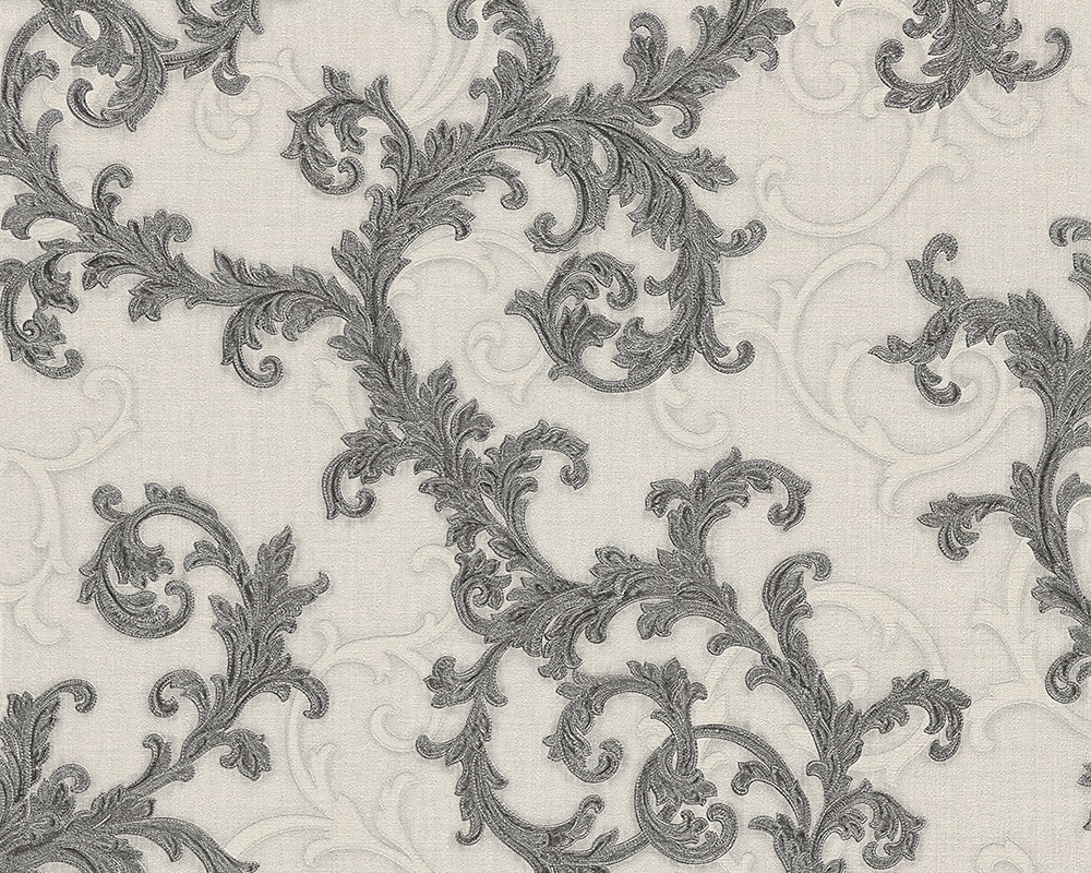 Versace Baroque & Roll Ornamental Wallpaper – 96231-5 -Black