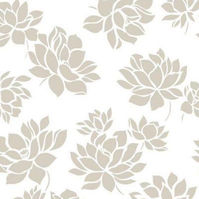 Lotus Flower Vinyl Wallpaper 103271 Gold