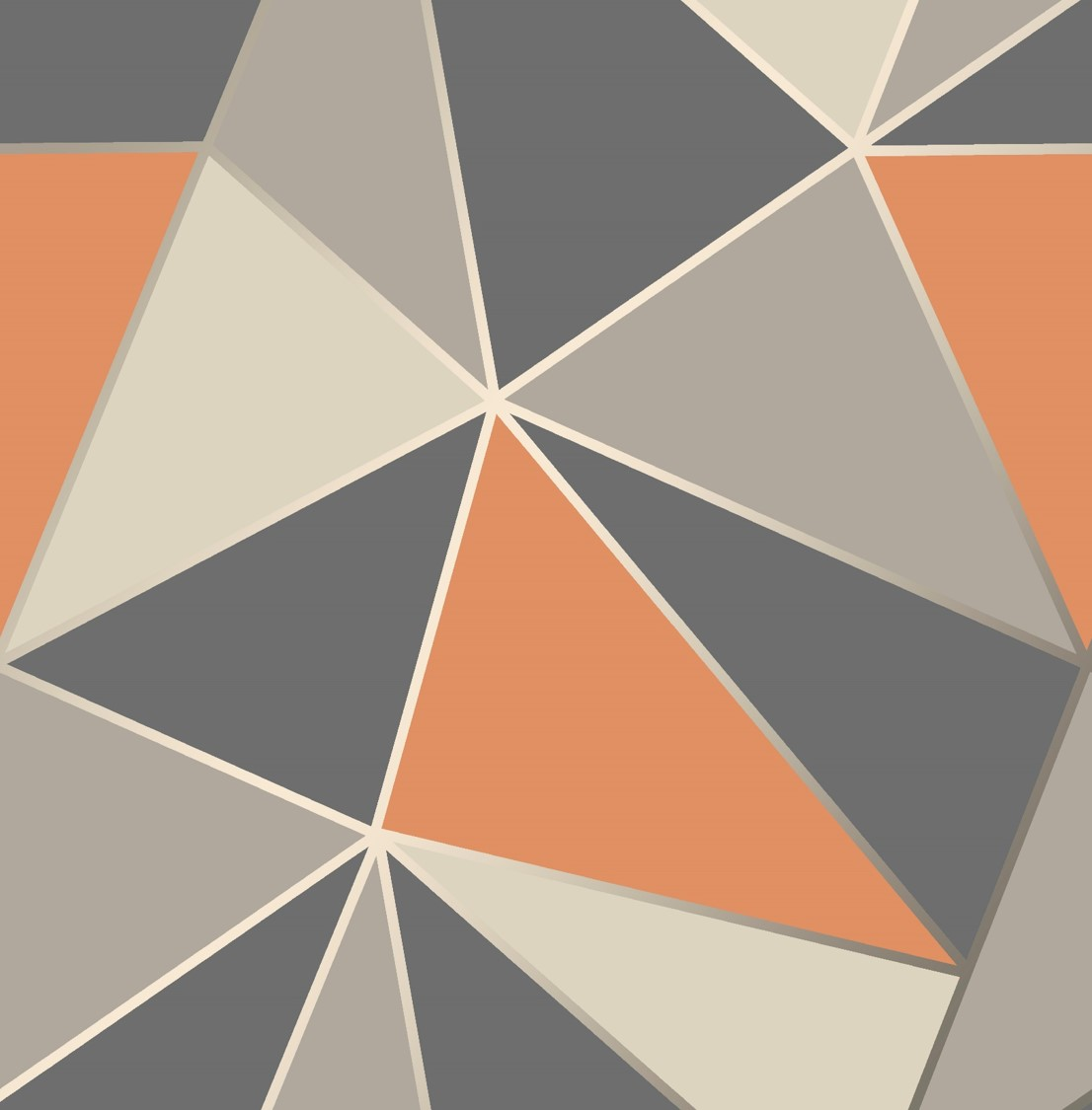 Fine Decor Apex Geometric Wallpaper Fd42002 Orange