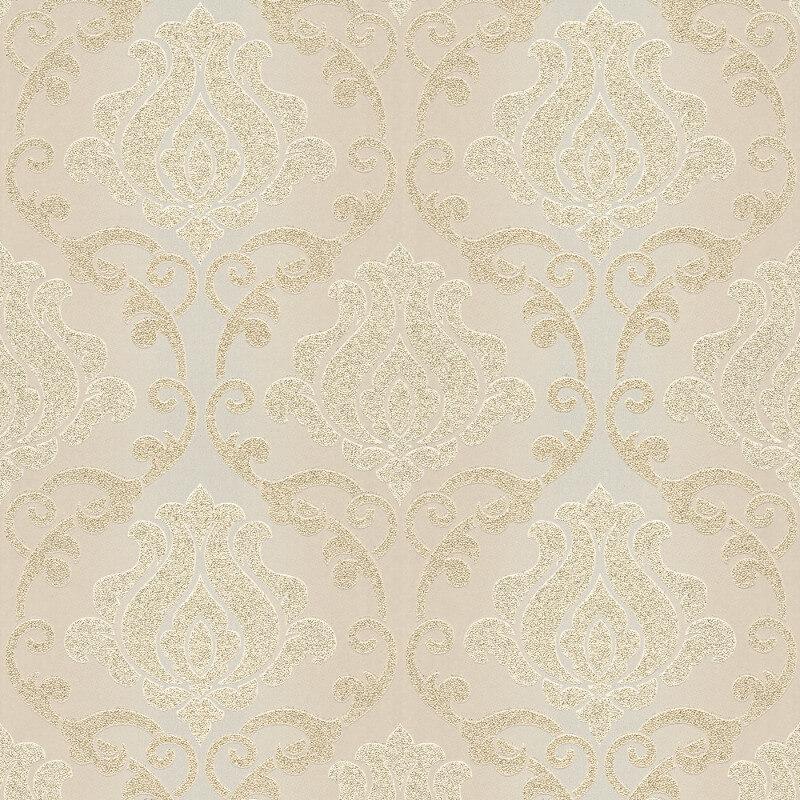 As Creation Omega Damask Wallpaper-34860-1- Cream