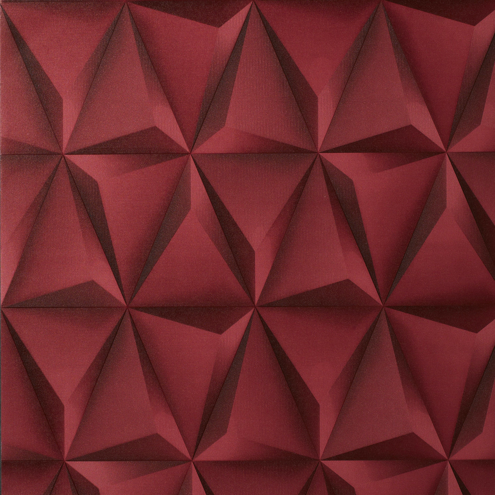 Exclusive 3d tetrahedron vinyl wallpaper 360105 red for 3d washable wallpaper