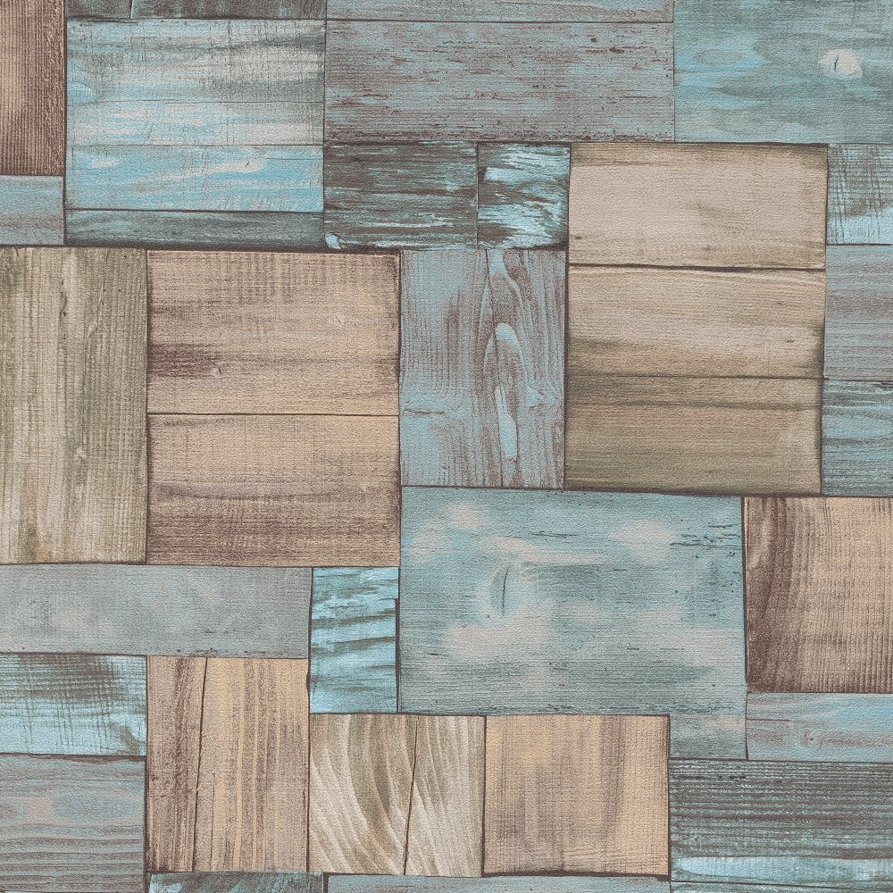 Wood tile wallpaper a street prints rustic wood tile for Wooden wallpaper price
