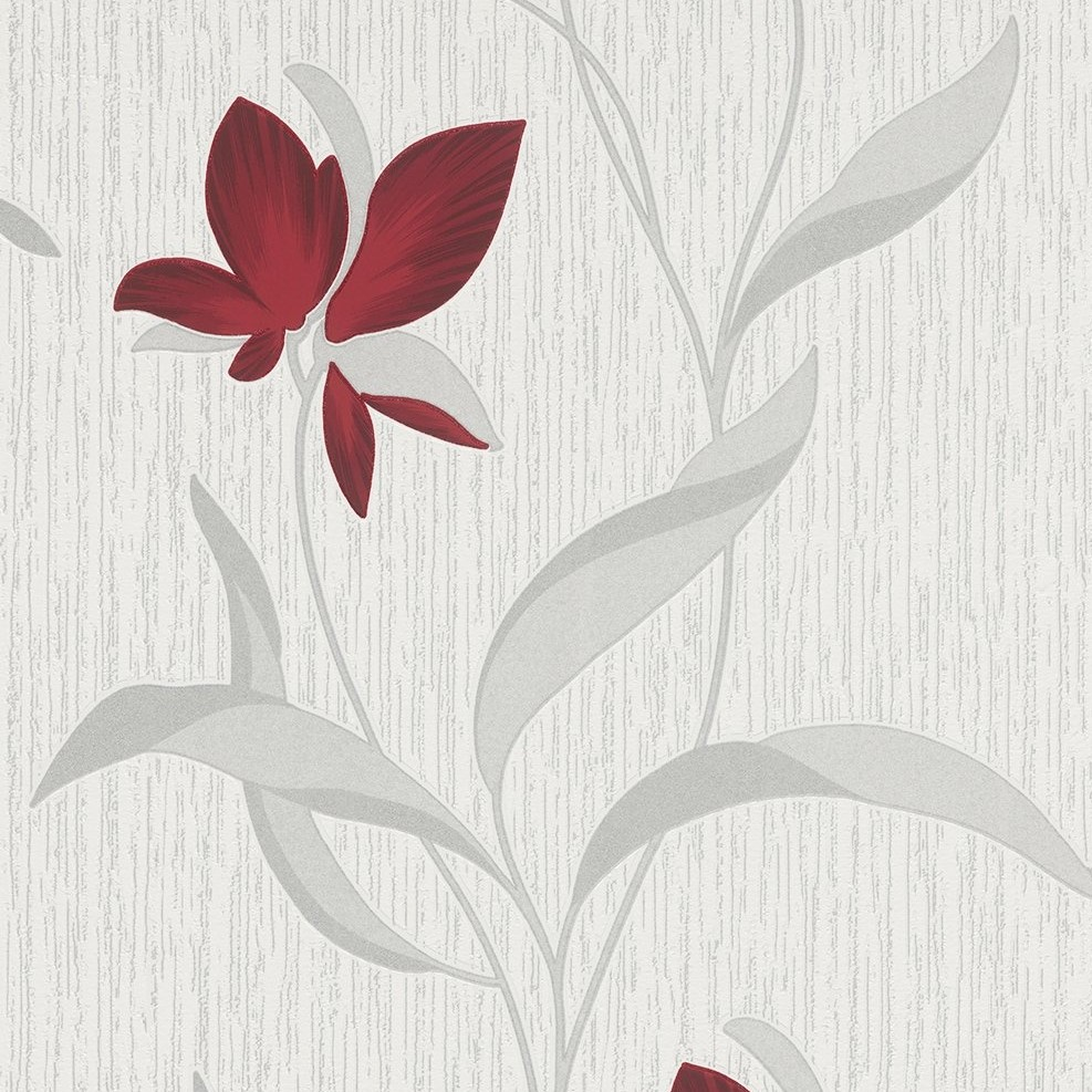 Erismann Fleur Blown Vinyl Wallpaper 9730 06 Red