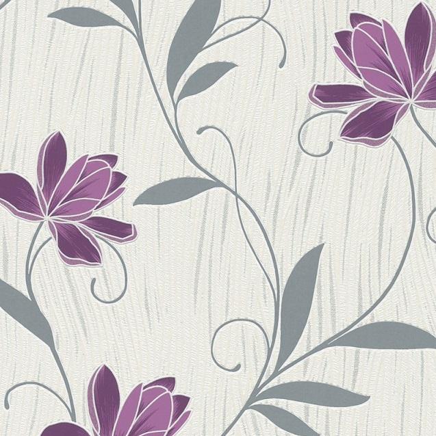 As Creation Lotus Flower Textured Wallpaper 3062 34 Purple