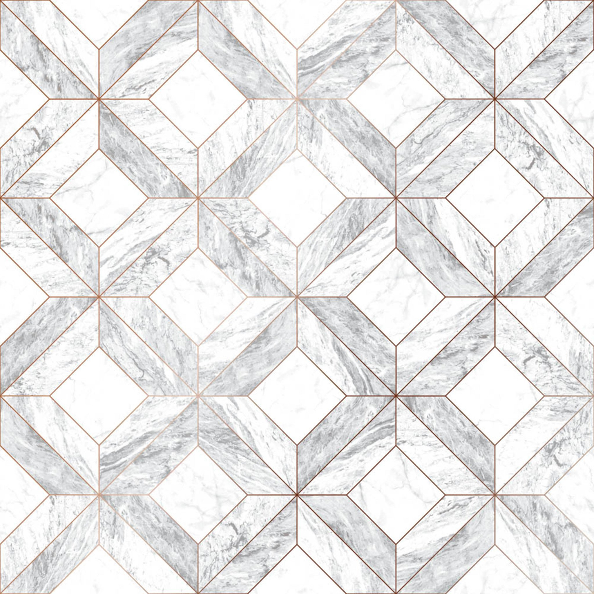 Graham & Brown Contour Marble Marquetry Wallpaper-103856-Grey