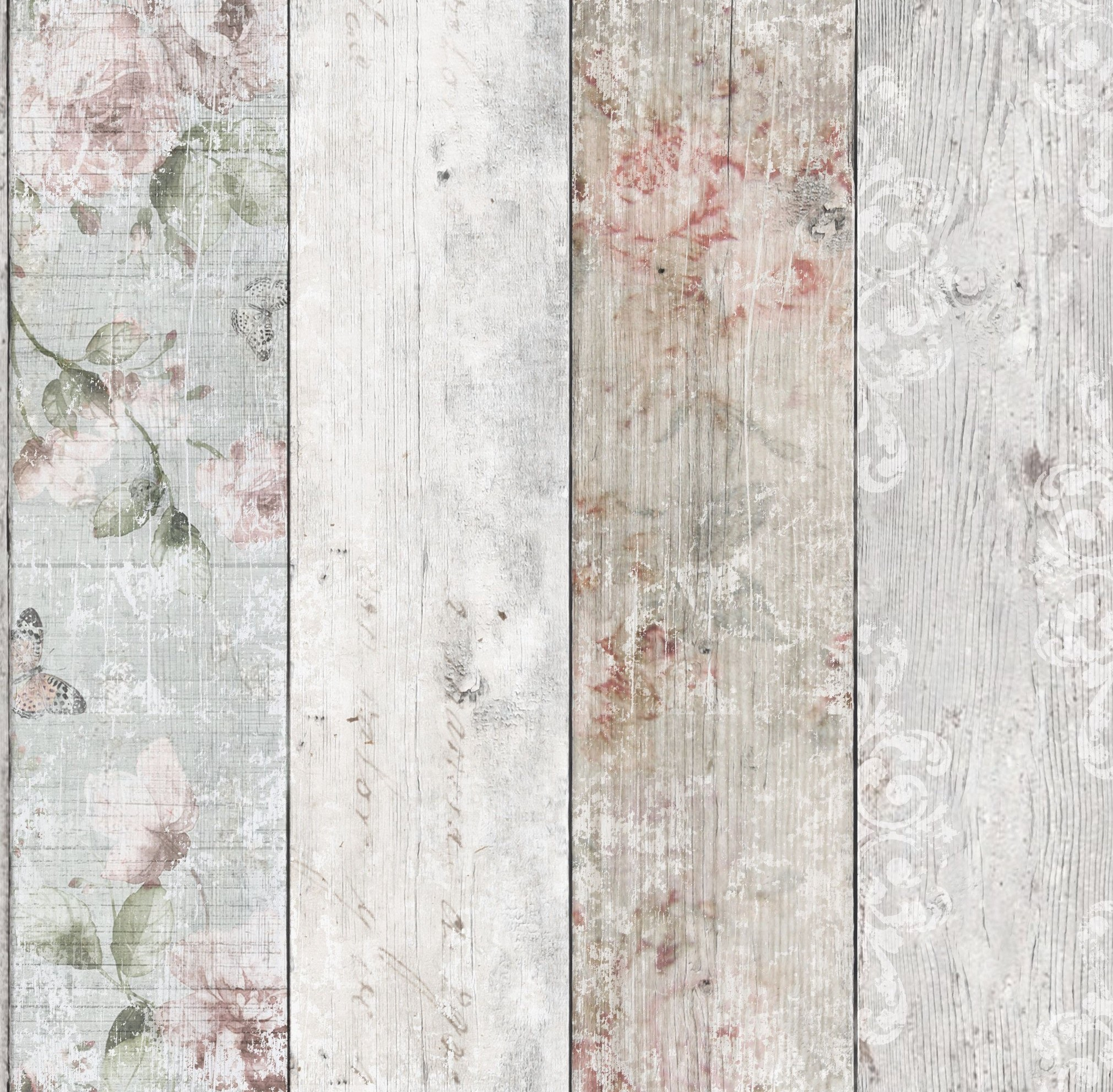 Graham brown fresco distressed wood wallpaper 51 094 for Red and grey wallpaper for walls