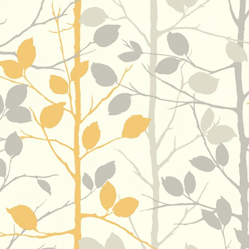 Arthouse Opera Woodland Wallpaper 630705 Grey Yellow