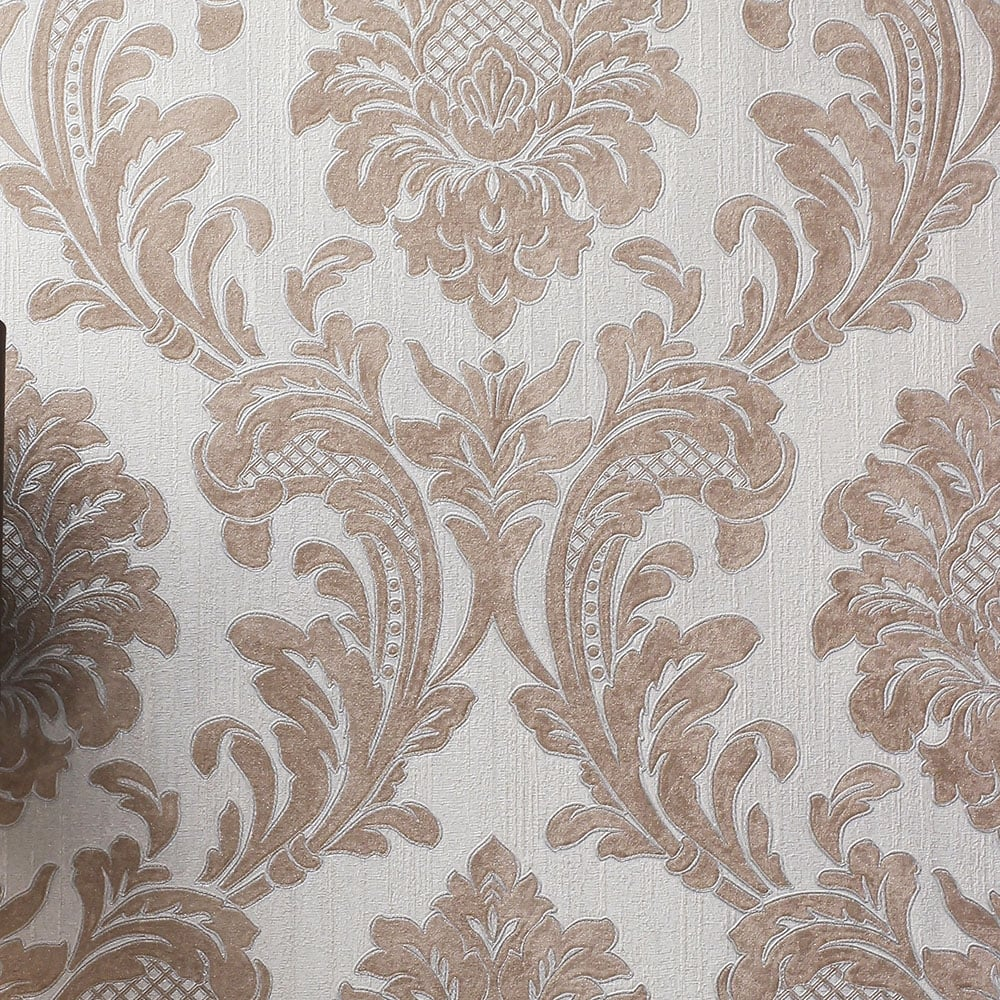 Fine decor milano 7 wallpaper m95595 rose gold - Floral wallpaper home depot ...
