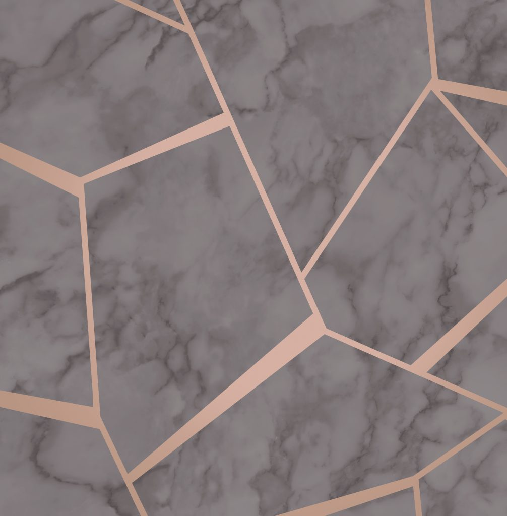 Fine Decor Fractal Marble Wallpaper Fd42266 Grey Rose Gold