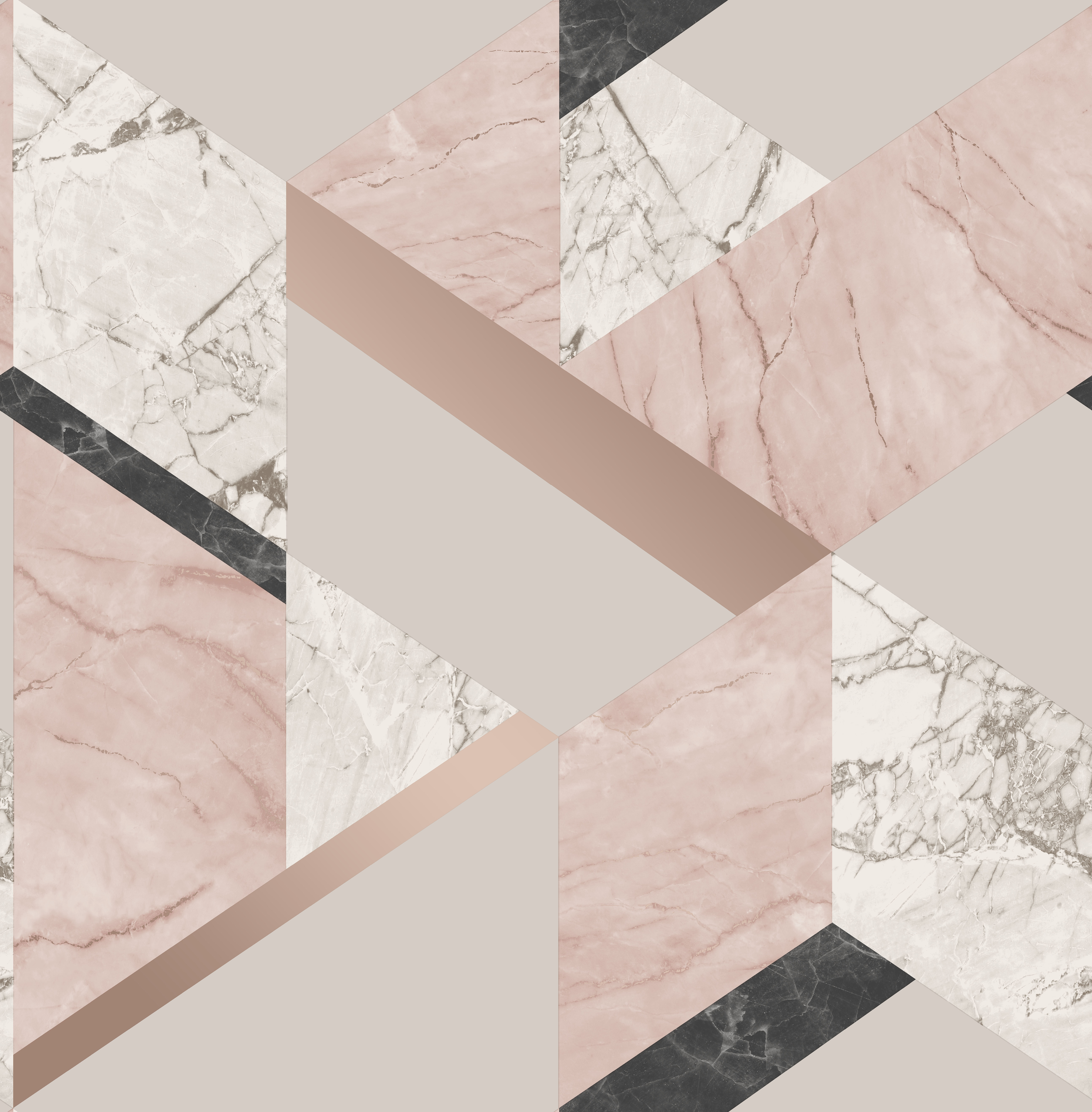 Fine Decor Marblesque Geo Wallpaper Fd42303 Pink Rose Gold
